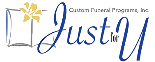 Just For U Custom Funeral Programs