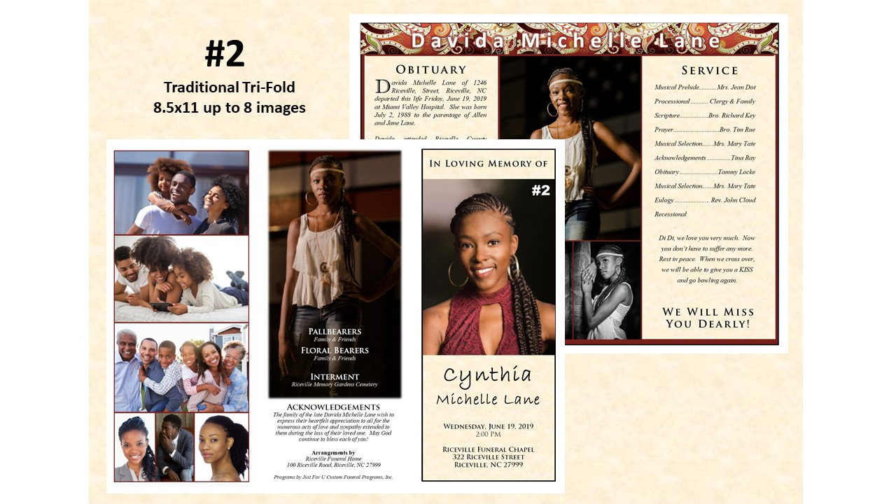 Traditional Tri-Fold - up to 3 images