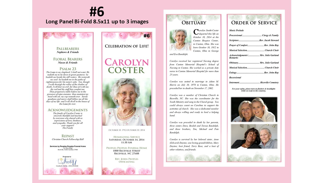 Our Gallery | Just For U Custom Funeral Programs