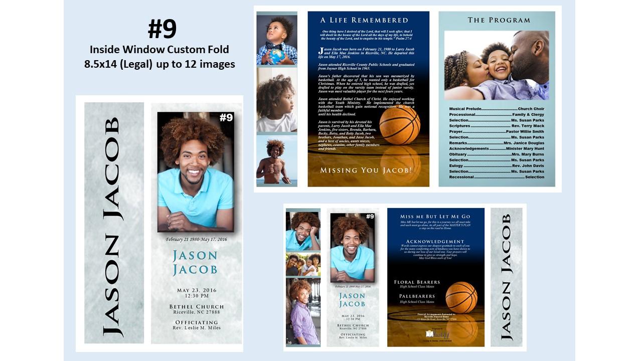 Inside Window Custom Fold- up to 12 images